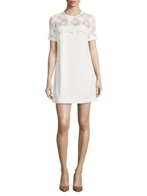 Floral Lace Topped Shift Dress by Wayf