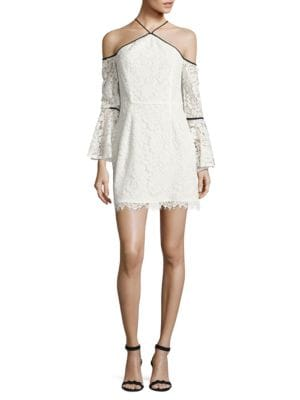 Lace Cold-Shoulder Sheath Dress by Wayf
