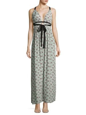 Plunging Floral Gown by Wayf