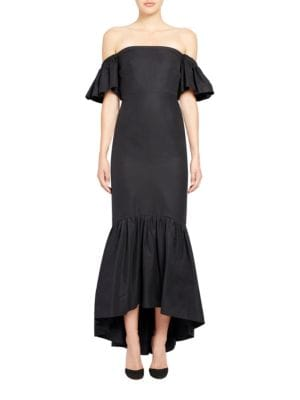 Solid Ruffled Off-The-Shoulder Gown by Jill Jill Stuart