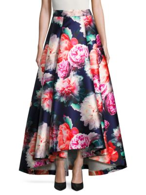 Floral-Print-A Line Skirt by Eliza J