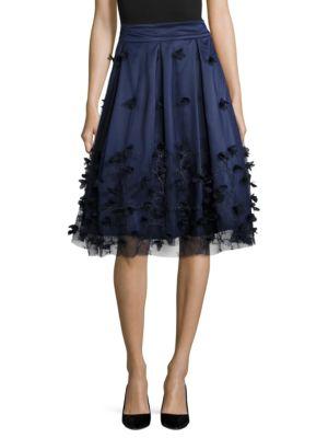 Embellished A-Line Skirt by Eliza J