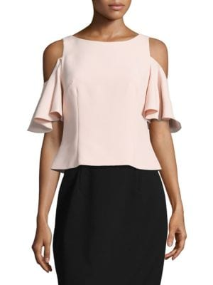 Flutter Cold Shoulder Top by Eliza J