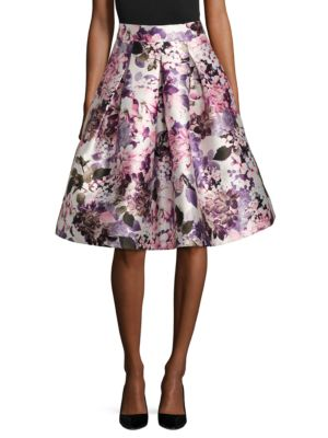 Floral A-Line Skirt by Eliza J