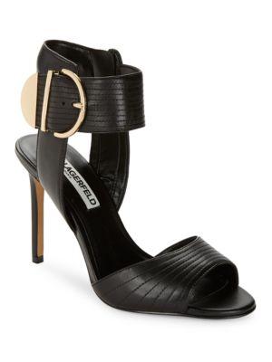 Lyra Buckled Stiletto Sandals by Karl Lagerfeld Paris
