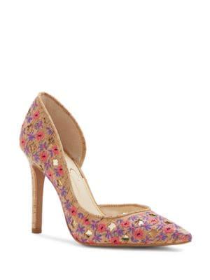 Buy Claudette Embroidered Stilettos by Jessica Simpson online