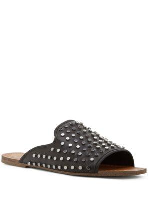 Kloe Studded Leather Slide Sandals by Jessica Simpson