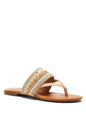 Ronnet Beaded Thong Sandals by Jessica Simpson