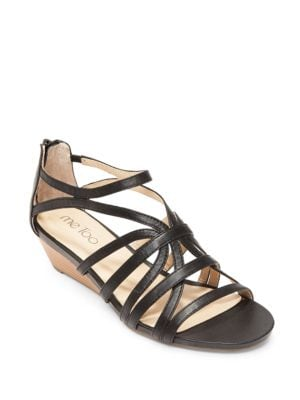 Sofie Leather Wedge Sandals by Me Too