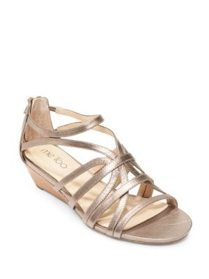 Buy Sofie Leather Wedge Sandals by Me Too online