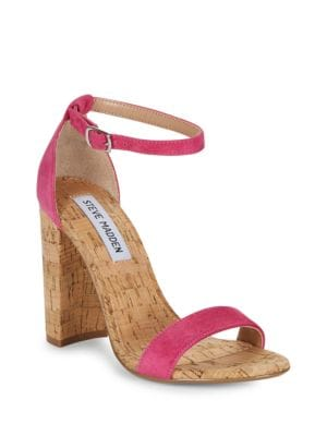 Carson High Heel Suede Sandals by Steve Madden