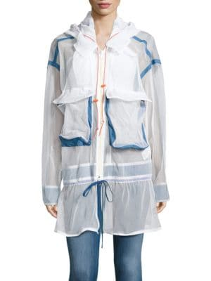 Hooded Mesh Jacket by DKNY