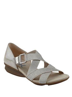 Kanelle Crisscross Sandals by Anne Klein