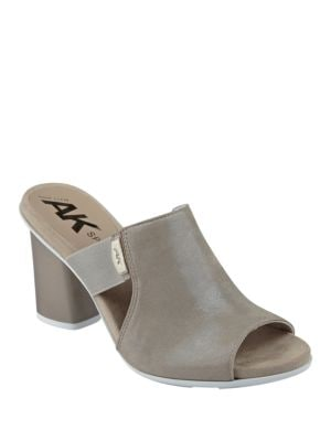 Paige Leather Dress Mules by Anne Klein