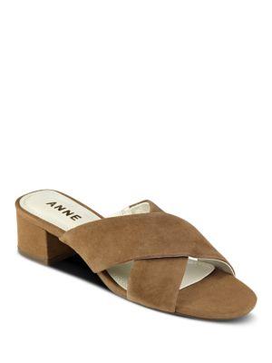 Sansa Suede Slide Sandals by Anne Klein