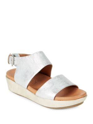 Lori Leather Flatform Sandals by Gentle Souls