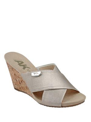 Toria Slide Sandals by Anne Klein
