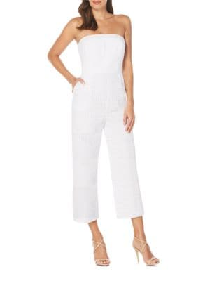 Strapless Eyelet Cutout Jumpsuit by Laundry by Shelli Segal