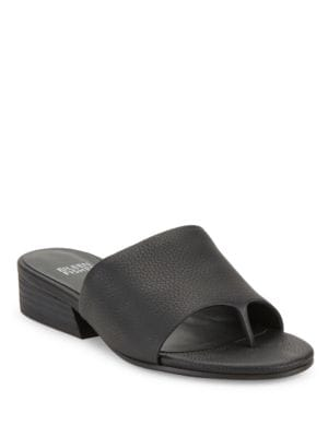 Beal Leather Slide Thong Sandals by Eileen Fisher