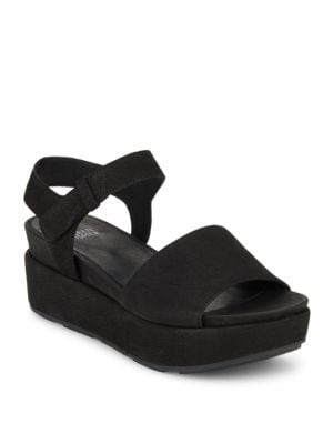 Jasper Suede Platform Sandals by Eileen Fisher