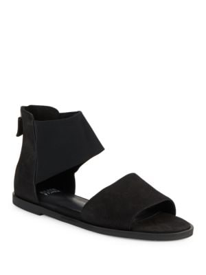 Sign Tumbled Nubuck Leather Sandals by Eileen Fisher