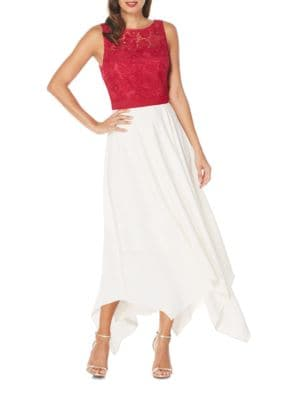 Asymmetric Lace Top Dress by Laundry by Shelli Segal