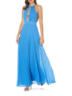 Solid Halter Beaded Dress by Laundry by Shelli Segal