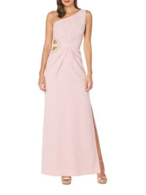 One-Shoulder Embellished Gown by Laundry by Shelli Segal