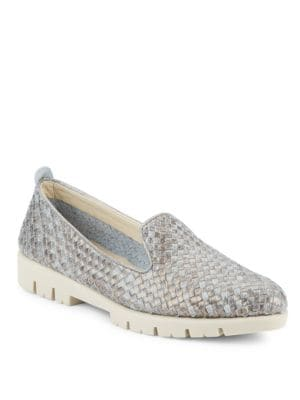 Smokin Hot Too Woven Leather Loafers by The Flexx