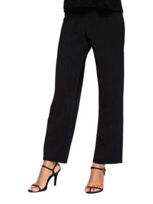 Slim-Fit Crepe Pants by Alex Evenings