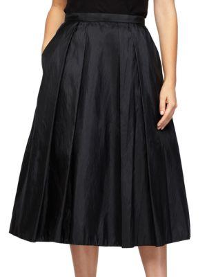 Short Taffeta A-Line Skirt by Alex Evenings