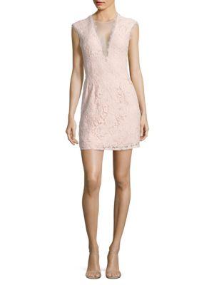 Illusion Lace Sheath Dress by Aidan Aidan Mattox