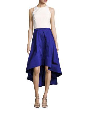 Hi-Lo Skirt and Halter Top Set by Aidan Aidan Mattox