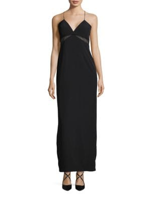 V-Neck Cross Back Dress by Aidan Aidan Mattox