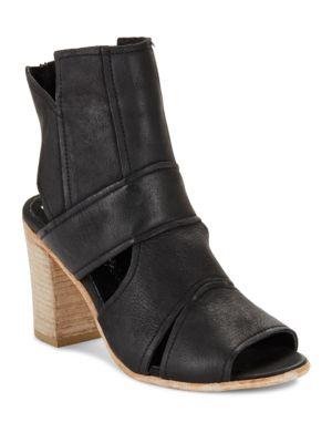 Effie Cutout Leather Open Toe Heels by Free People