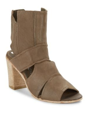 Effie Open Toe Leather Booties by Free People