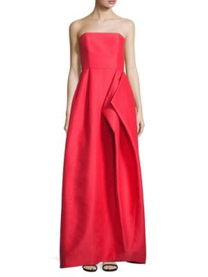 Strapless Faille Gown by Halston Heritage
