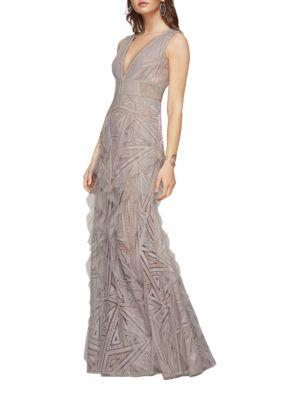 Aislinn Geometric Lace Gown by BCBGMAXAZRIA
