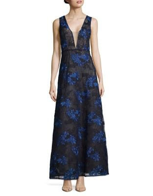 Embroidered Floral Lace Brea Gown by BCBGMAXAZRIA