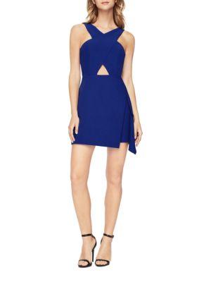 Cross-Neck Cutout Dress by BCBGMAXAZRIA