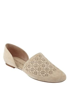 Evana d Orsay Perforated Suede Flats by Ivanka Trump