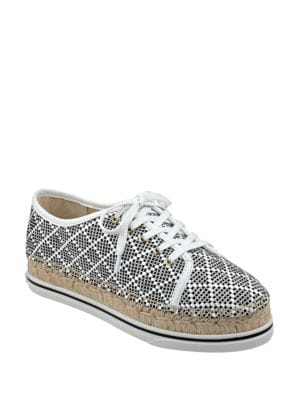 Nallis Dotted Lace-Up Espadrille Sneakers by Ivanka Trump