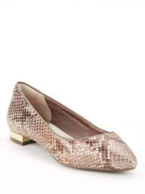 Adelyn Textured Ballet Flats by Rockport