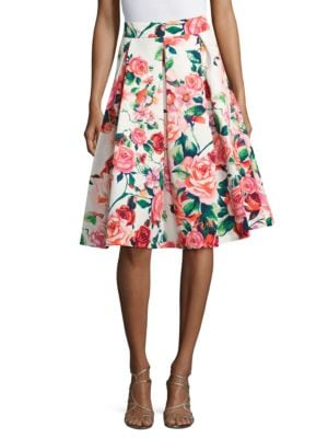 Floral Printed Midi Skirt by Eliza J
