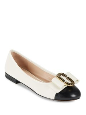 Interlock Bow Accented Flats by Marc Jacobs