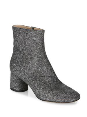 Valentine Glitter Block Heel Booties by Marc Jacobs