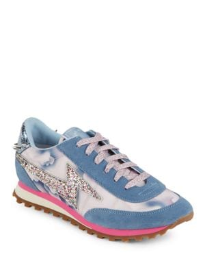 Astor Stud Accented Lace-Up Sneakers by Marc Jacobs