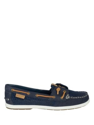 Coil Ivy Leather Perforated Boat Shoes by Sperry