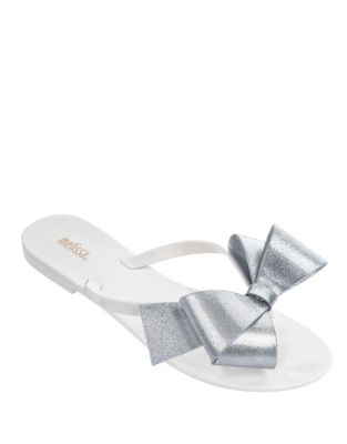 Harmonic Bow Slip-On Sandals by Melissa