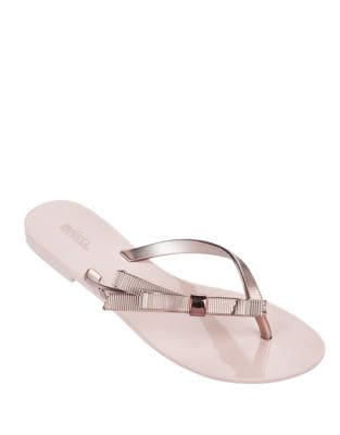 Harmonic Chrome Thong Sandal by Melissa